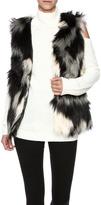 rebecca elliott Gray Faux-Fur Vest