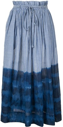 Karen Walker Striped Dye Print Skirt