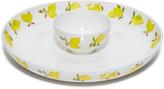 Kate Spade Lemon Melamine Chip & Dip Bowl