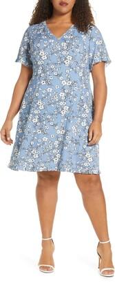 Marée Pour Toi Floral Print Fit & Flare Dress
