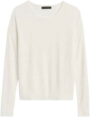 Banana Republic Petite Linen-Blend Sweater