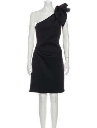 Jovani One-Shoulder Mini Dress Black