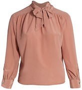 Baacal, Plus Size Marion Tie-Neck Silk Blouse