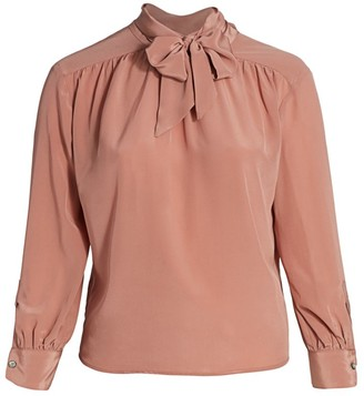 Marion Tie-Neck Silk Blouse