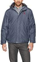 U.S. Polo Assn. Mens Standard Sherpa Lined Hooded Windbreaker