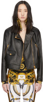 Versace Black Safety Pin Moto Jacket