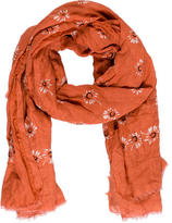 Marc Jacobs Floral Printed Woven Scarf