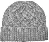 Michael Kors Men's Cable Knit Hat Heather Grey