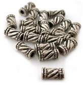 FindingKing 20 Tube Bali Beads Antique Necklaces Jewelry Parts