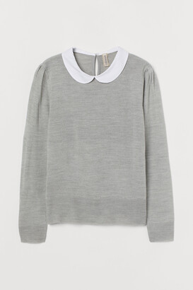 H&M Fine-knit collared jumper