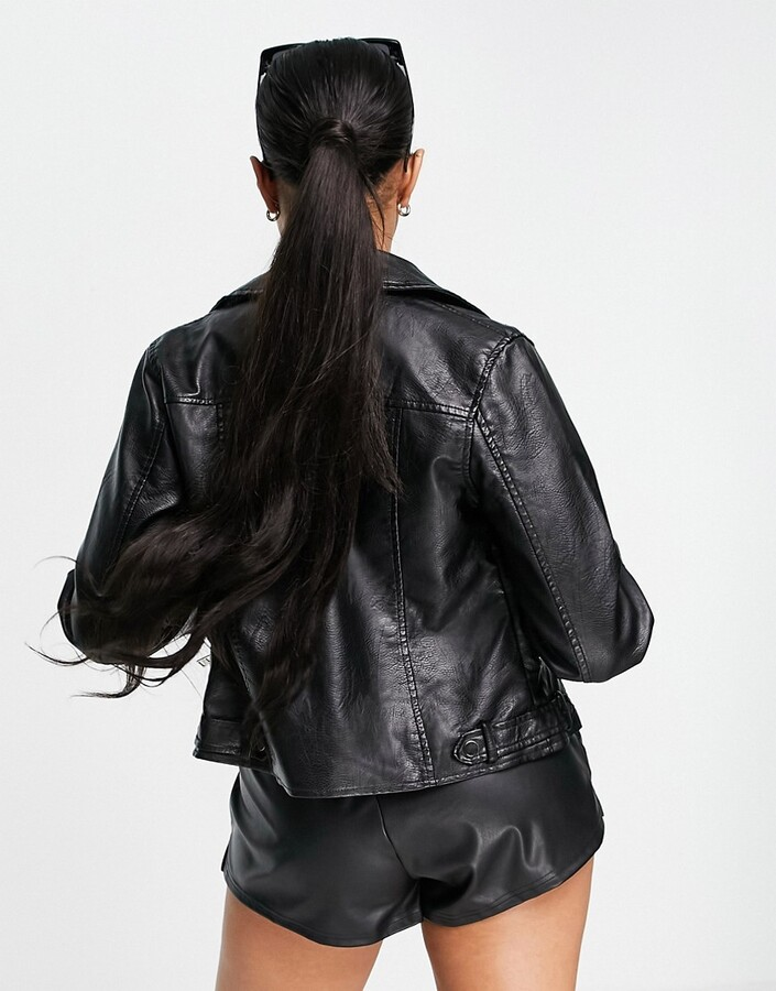 Thumbnail for your product : Parisian PU jacket in black
