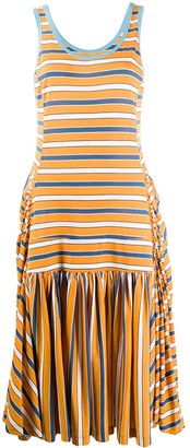 Marni Flared Striped Tank Top Dress