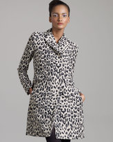 Gryphon New York Long Leopard-Print Coat