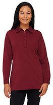 Denim & Co. Regular Stretch Denim Long Sleeve Shirt