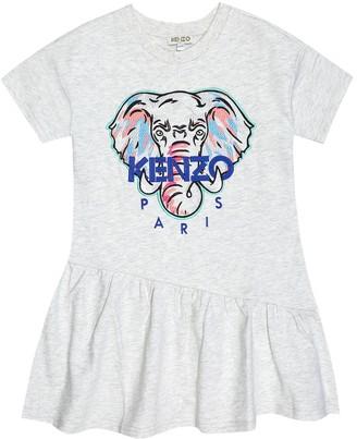 Kenzo Logo cotton-jersey dress