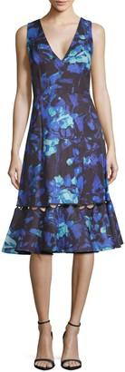 Sachin + Babi Flora V-Neck Dress