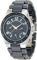 AK Anne Klein Women's 10/9863GYGY Silver-Tone Multi-Function Ceramic Bracelet Watch