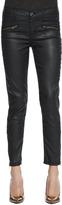 Current/Elliott Soho Coated-Denim Stiletto Pants