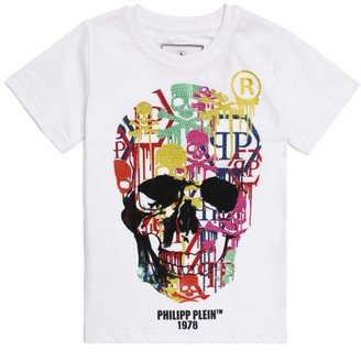Philipp Plein Junior Diamante Skull T-Shirt