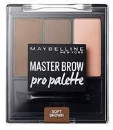 Maybelline Master Brow Pro Palette Kit Soft 3.4g (Pack of 4)