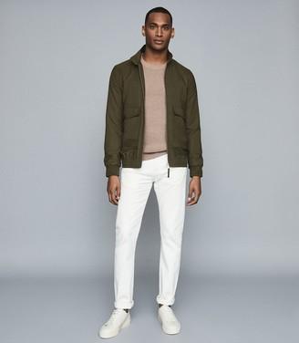 Reiss Kura - Harrington Jacket in Green