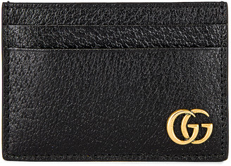 Gucci Dollar Pigprint Cardholder in Black | FWRD