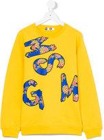 MSGM logo print top - kids - Cotton - 14 yrs