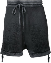11 By Boris Bidjan Saberi optic embroidered shorts