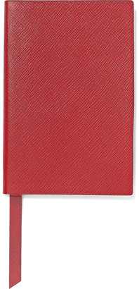 Smythson Chelsea Textured-leather Notebook