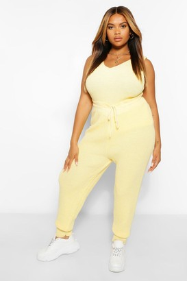 boohoo Plus Knitted Jogger