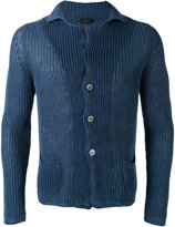 Zanone ribbed detail cardigan - men - Linen/Flax - 48