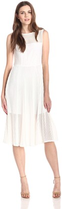Rachel Zoe Women's Ari Shadow Stripe Midi Dress