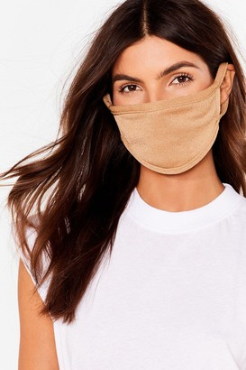 Nasty Gal Womens Not Just a Pretty Fashion Face Mask - Beige - ONE SIZE, Beige
