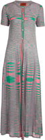 Missoni Faded-stripe ribbed-knit maxi cardigan