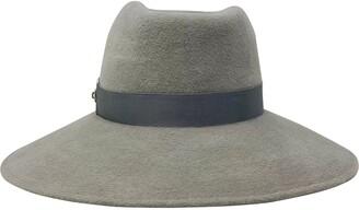 Frances Grey Wide Brim Fur Felt Hat