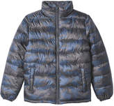 Joe Fresh Kid Boys' Print Quilted Jacket, Blue (Size L)