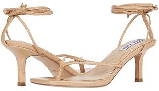 Steve Madden Lori Heeled Sandal (Tan Lizard) Women's Shoes
