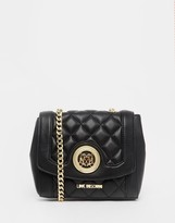 Love Moschino Black Quilted Bag with Chain Strap
