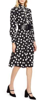 Plus Size Polka Dot Dress Shopstyle