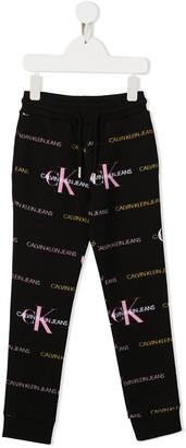 Calvin Klein Kids Logo-Print Sweatpants