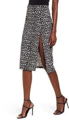 Leith High Slit Pencil Skirt