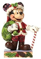 Disney Jim Shore for Enesco Traditions by Christmas Mickey Figurine, 4.5""