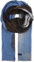 Stella McCartney Silk and modal-blend horse print scarf