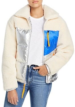 Andrew Marc Mixed Media Puffer Jacket