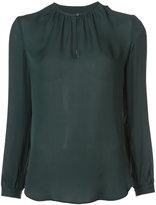 Nili Lotan gathered detailing semi-sheer blouse