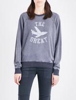 The Great Logo-print cotton-blend sweatshirt
