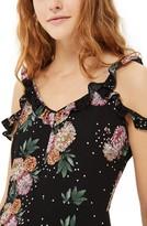 Topshop Petite Women's Floral Ruffle Jumpsuit