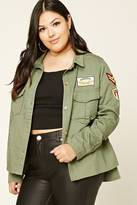 Forever 21 FOREVER 21+ Plus Size Patch Utility Jacket
