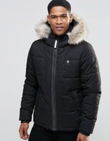 G Star G-Star Whistler Jacket with Faux Fur Hood