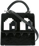 Les Petits Joueurs mini 'Alex Eyes' shoulder bag - women - Calf Leather/Plastic/Calf Hair - One Size